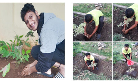 Tree plantation and slogan Competition on World environment day 05th June 2021